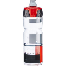 Elite Crystal Ombra Fume' Borraccia 750ml, transparent/red